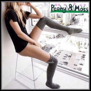 Peony & Moss Thigh High Boot Socks Over Knee Socks